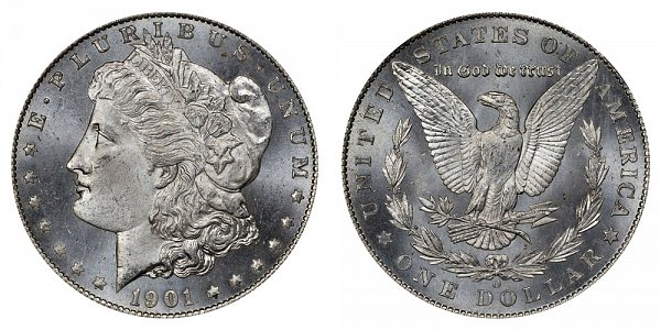 1901 O Morgan Silver Dollar