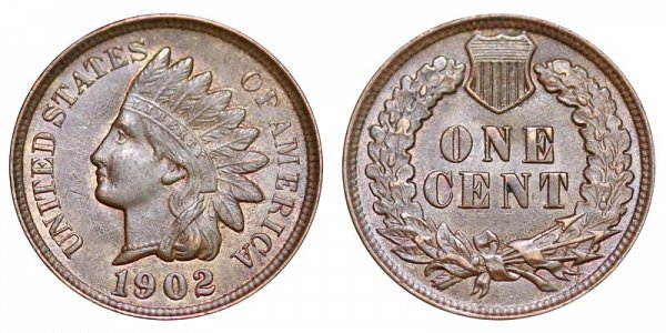 1902 Indian Head Cent Penny