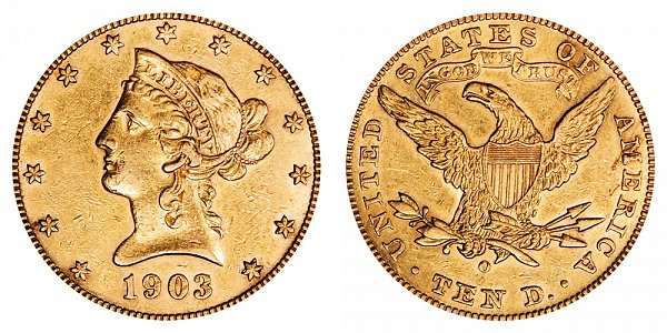 1903 O Liberty Head $10 Gold Eagle - Ten Dollars