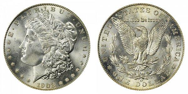 1903 O Morgan Silver Dollar