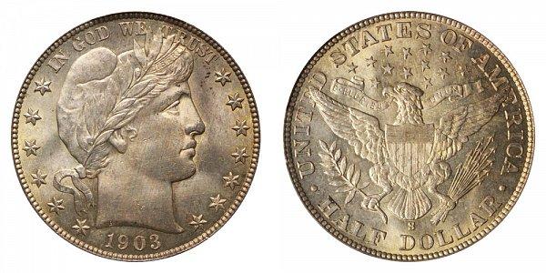 1903 S Barber Silver Half Dollar