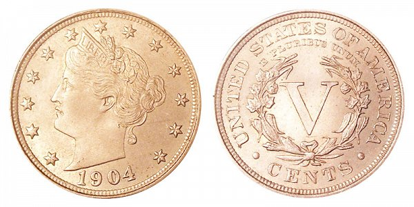 1904 Liberty Head V Nickel