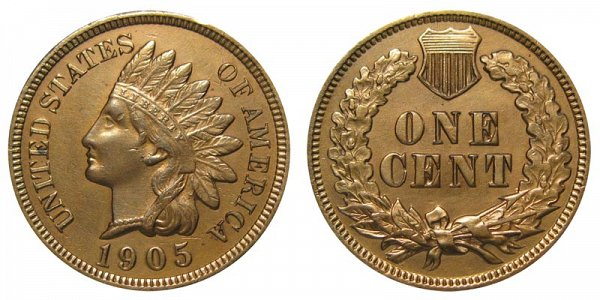 1905 Indian Head Cent Penny
