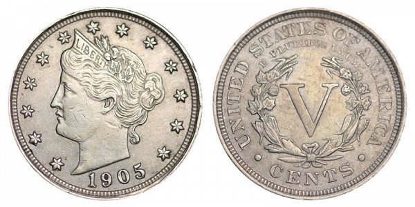 1905 Liberty Head V Nickel