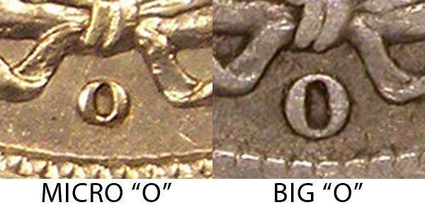1905 Micro O vs Normal O Barber Dime - Difference and Comparison