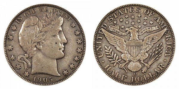1905 O Barber Silver Half Dollar