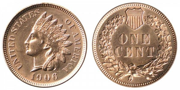 1906 Indian Head Cent Penny