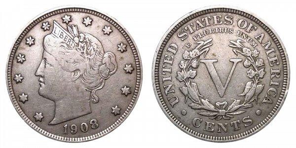 1908 Liberty Head V Nickel
