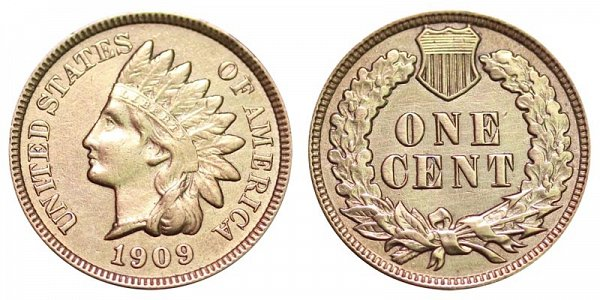 1909 Indian Head Cent Penny