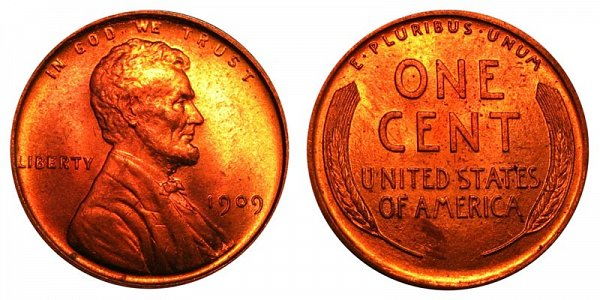 1909 Lincoln Wheat Cent Penny