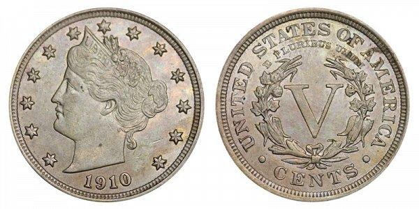 1910 Liberty Head V Nickel