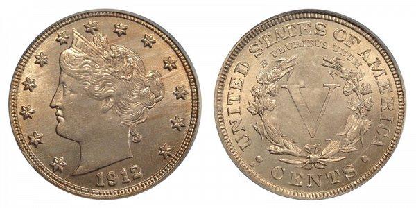 1912 D Liberty Head V Nickel