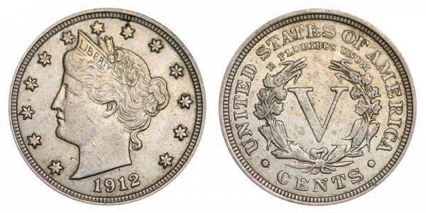 1912 Liberty Head V Nickel