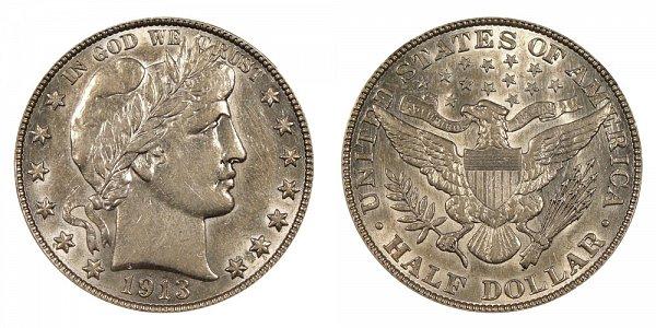 1913 Barber Silver Half Dollar