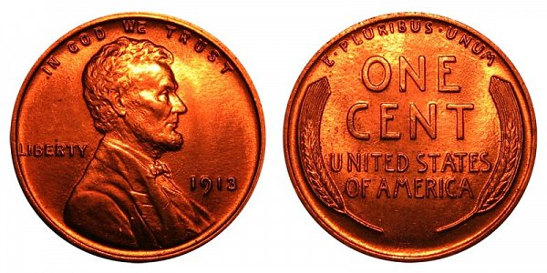 1913 Lincoln Wheat Cent Penny
