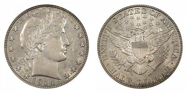 1914 Barber Silver Half Dollar