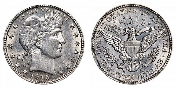1915 Barber Quarter