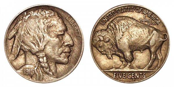 1915 Indian Head Buffalo Nickel