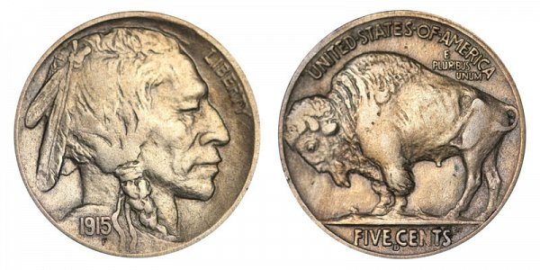 1915 D Indian Head Buffalo Nickel