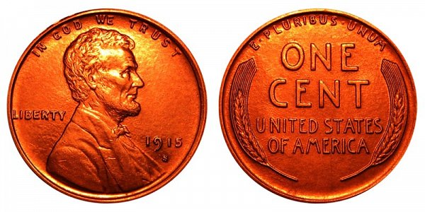 1915 S Lincoln Wheat Cent Penny