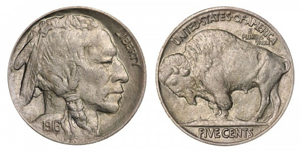 1916 Indian Head Buffalo Nickel