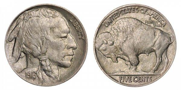 1916 Indian Head Buffalo Nickel