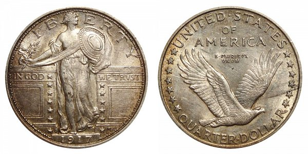 1917 S Type 1 Standing Liberty Quarter