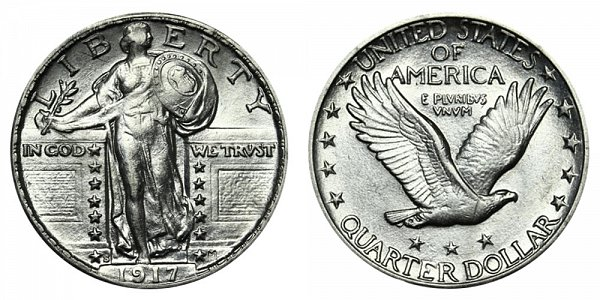 1917 S Type 2 Standing Liberty Quarter