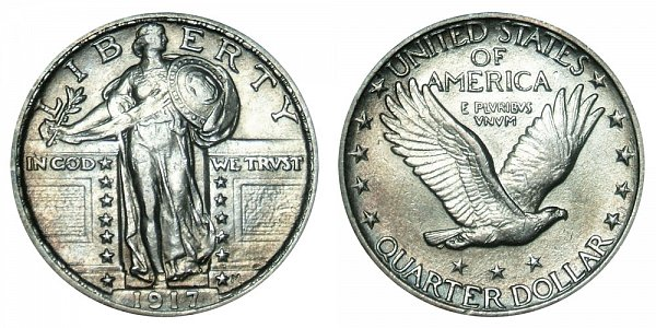 1917 Type 2 Standing Liberty Quarter