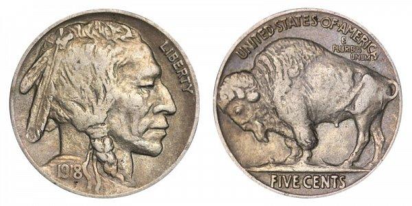 1918 Indian Head Buffalo Nickel