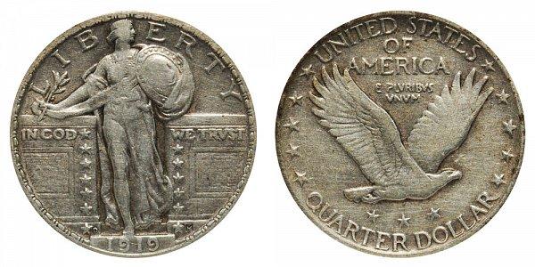 1919 D Standing Liberty Quarter