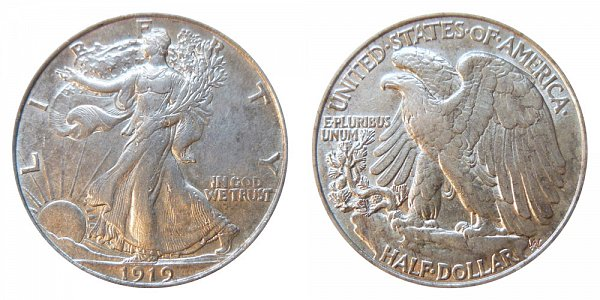 1919 Walking Liberty Silver Half Dollar