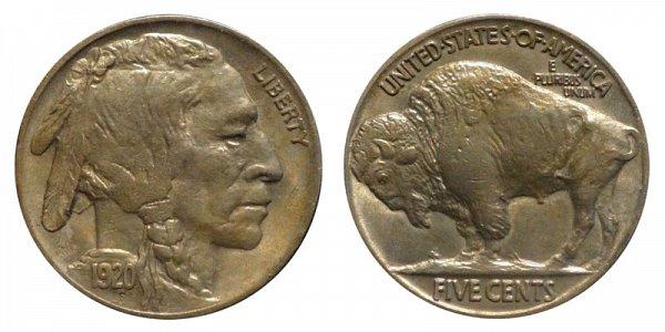 1920 Indian Head Buffalo Nickel