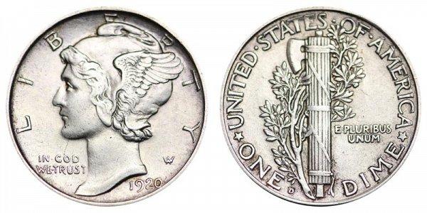 1920 D Silver Mercury Dime
