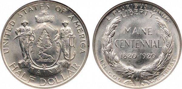 1920 Maine Centennial Silver Half Dollar