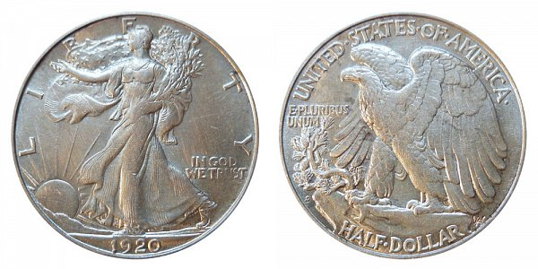 1920 S Walking Liberty Silver Half Dollar