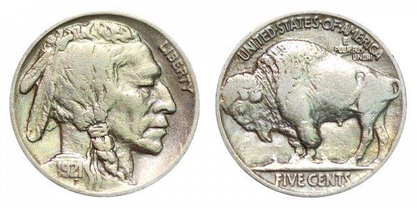 1921 Indian Head Buffalo Nickel