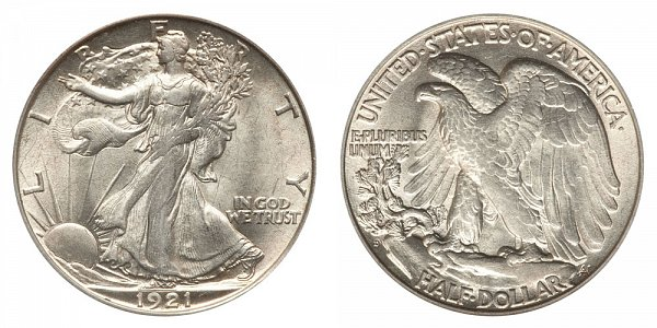 1921 D Walking Liberty Silver Half Dollar