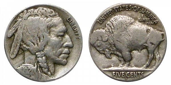 1921 S Indian Head Buffalo Nickel