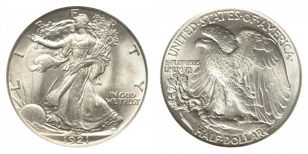 1921 Walking Liberty Silver Half Dollar