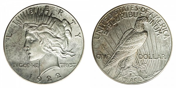 1922 High Relief Peace Silver Dollar