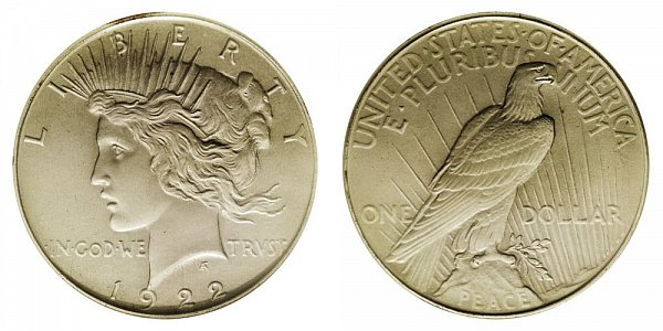 1922 Low Relief Matte Proof Peace Dollar
