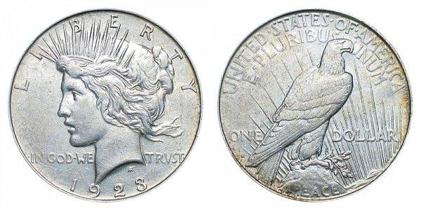1923 D Peace Silver Dollar