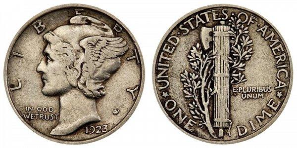 1923 Silver Mercury Dime