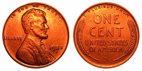 1923 S Lincoln Wheat Cent Penny