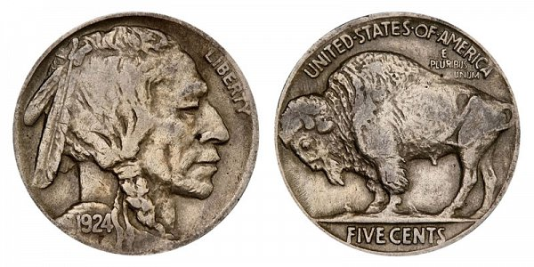 1924 Indian Head Buffalo Nickel