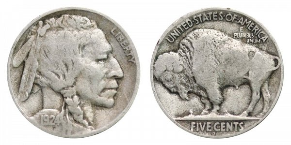 1924 D Indian Head Buffalo Nickel