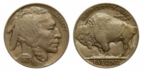 1925 Indian Head Buffalo Nickel