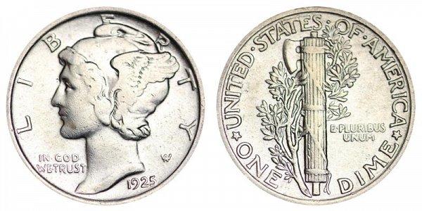 1925 Silver Mercury Dime