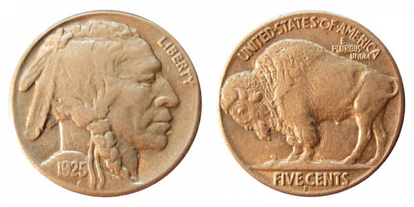1925 S Indian Head Buffalo Nickel
